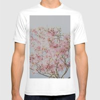 Pink Magnolias Mens Fitted Tee White SMALL