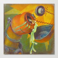DickBot Attacked By Bitc… Canvas Print