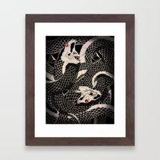 Dueling Snakes Framed Art Print