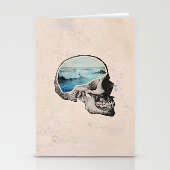 Brain Waves Stationery Card