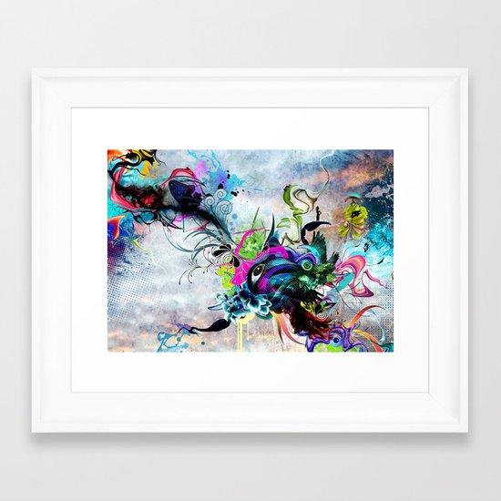 Streaming Eyes Framed Art Print