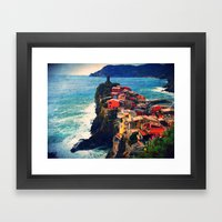 Cliff Living Framed Art Print