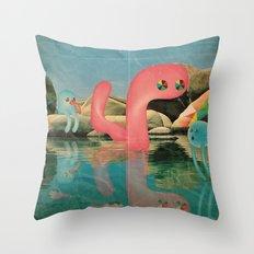 lago animato Throw Pillow