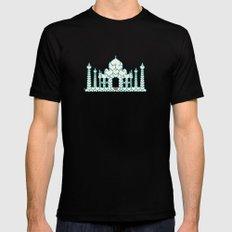 Taj Mahal is Love SMALL Black Mens Fitted Tee