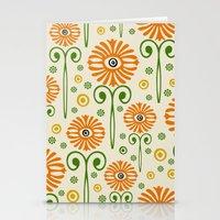 Retro Sunflower Pattern … Stationery Cards