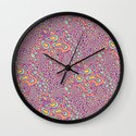 Cell Floral Wall Clock