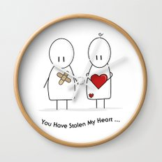 You Have Stolen My Heart Wall Clock