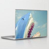 shark Laptop & iPad Skins featuring Shark! by Cassia Beck
