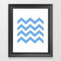 Chevron Lines  Framed Art Print