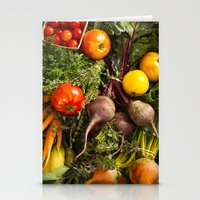 Mixed Organic Vegetables With Tomatoes Beets & Carrots Stationery Cards