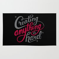 Creating Anything Is Har… Rug