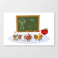 Human learning Canvas Print