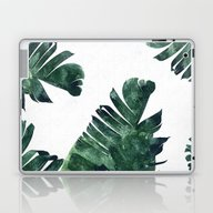 Banana Leaf Watercolor P… Laptop & iPad Skin