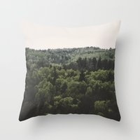 The Woods of Gauja Valley Throw Pillow