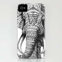 iPhone Cases featuring Ornate Elephant by BIOWORKZ