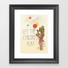 Let the children play Framed Art Print