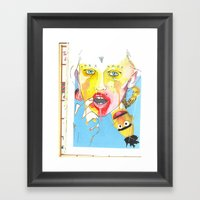 Time and incest  Framed Art Print