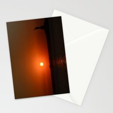A Sunset With Lady Liberty Stationery Cards
