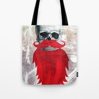 Beard Skull Tote Bag