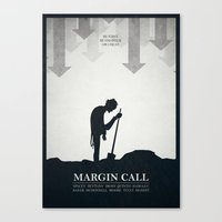 Margin Call - Minimal Po… Canvas Print