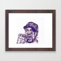 Ice Cube Framed Art Print