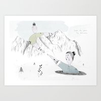 Save Me From The Darknes… Art Print