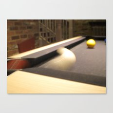 Que Ball Corner Pocket Canvas Print