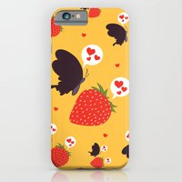 iPhone & iPod Case featuring the death loves the strawberry by Megan Butler