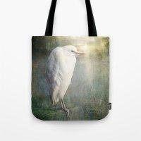 The White Egret Tote Bag