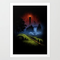 Over The Hill - The Lord Of The Rings Art Print