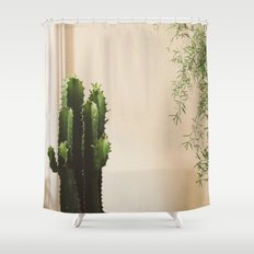 Cactus & Friend Shower Curtain