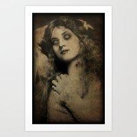 Virgin Vampire Art Print