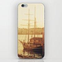 Tall Ship on Waterfront iPhone & iPod Skin