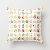 apples galore Throw Pillow