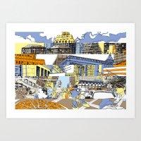 NY Stripes Art Print
