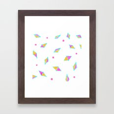 Gems of Pink and Gold Framed Art Print