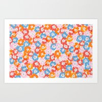 Morning Glory - Pink Multi Art Print