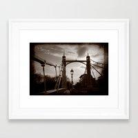 Battersea Bridge Framed Art Print