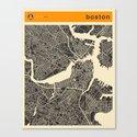 B0STON MAP Canvas Print