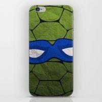 the blue turtle iPhone & iPod Skin