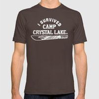 I Survived Friday The 13… Mens Fitted Tee Brown SMALL