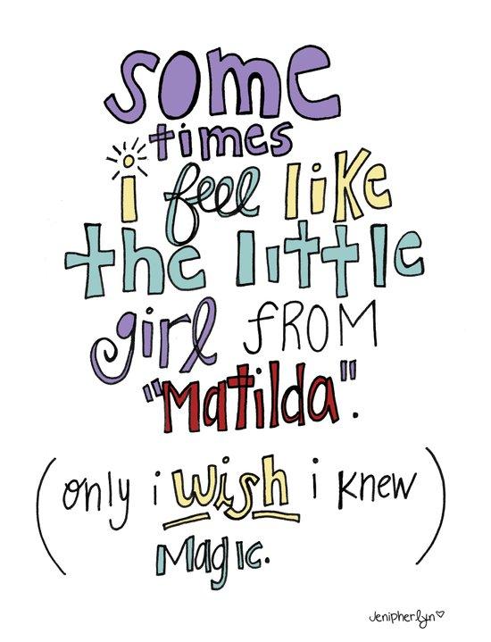 Matilda's Magic Art Print