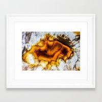 Honey Amber Agate frozen in time  Framed Art Print