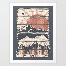 Winter Pursuits... Art Print