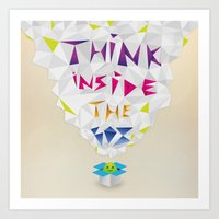 Think inside the box Art Print