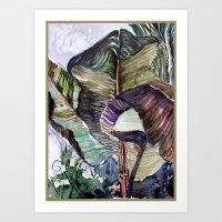 Waving Palms Art Print