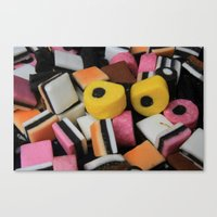 Sweets Candy Cases Canvas Print