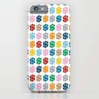 iPhone & iPod Case featuring Colourful Money Repeat by Project M