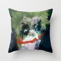 A Joker Painting Throw Pillow