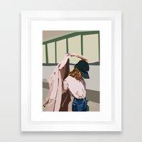 Pink Coat Framed Art Print